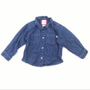 Shirts & Tops - Graphic Tees + GAP Denim Shirt Size 18-24M
